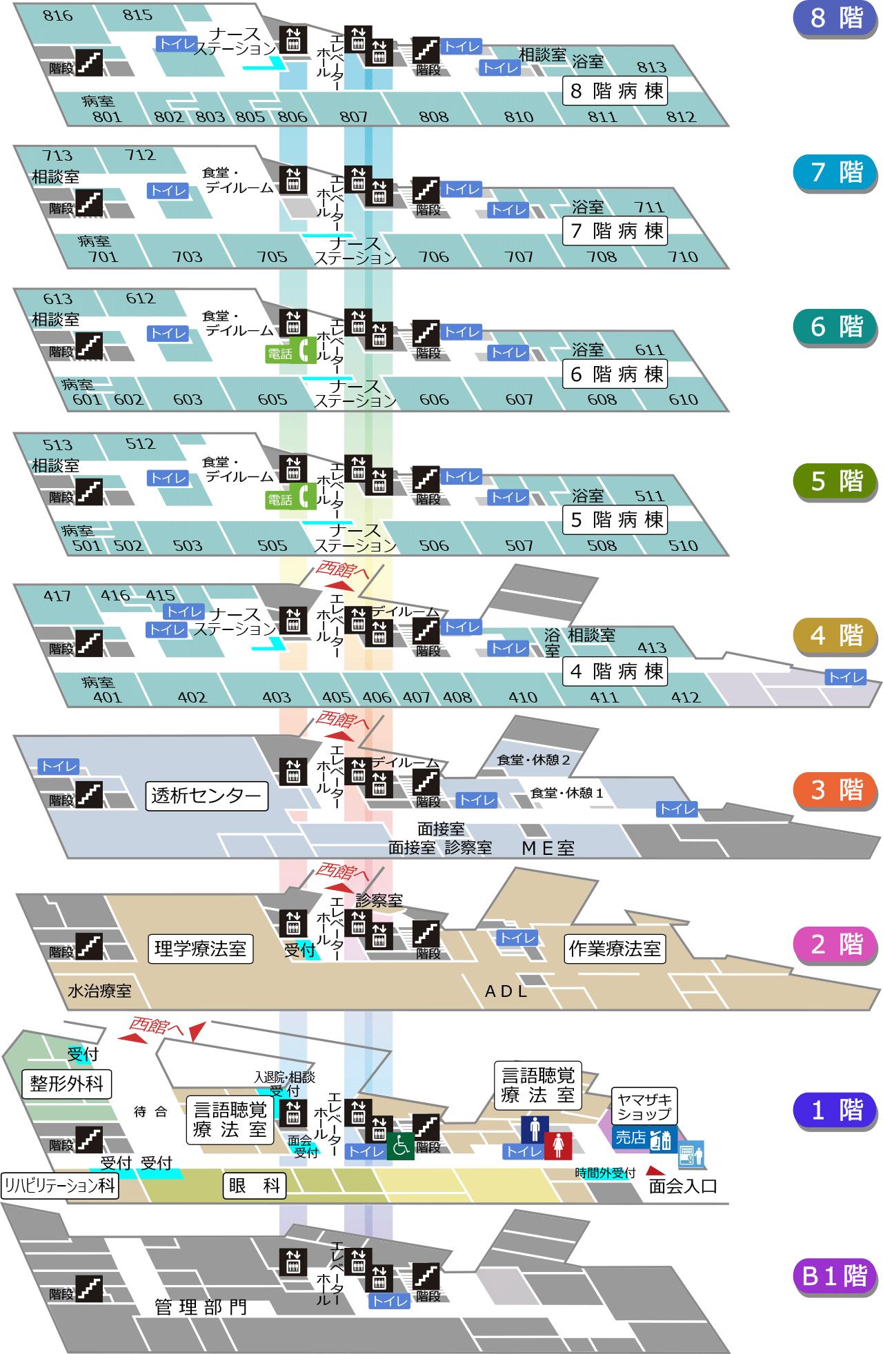 東館案内図